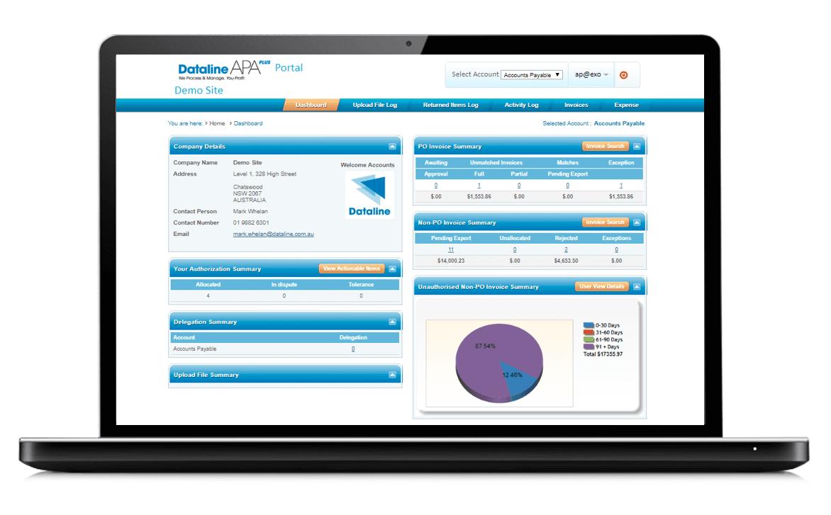 Dataline dashboard