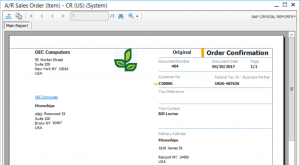 SAP Business One Document Layout