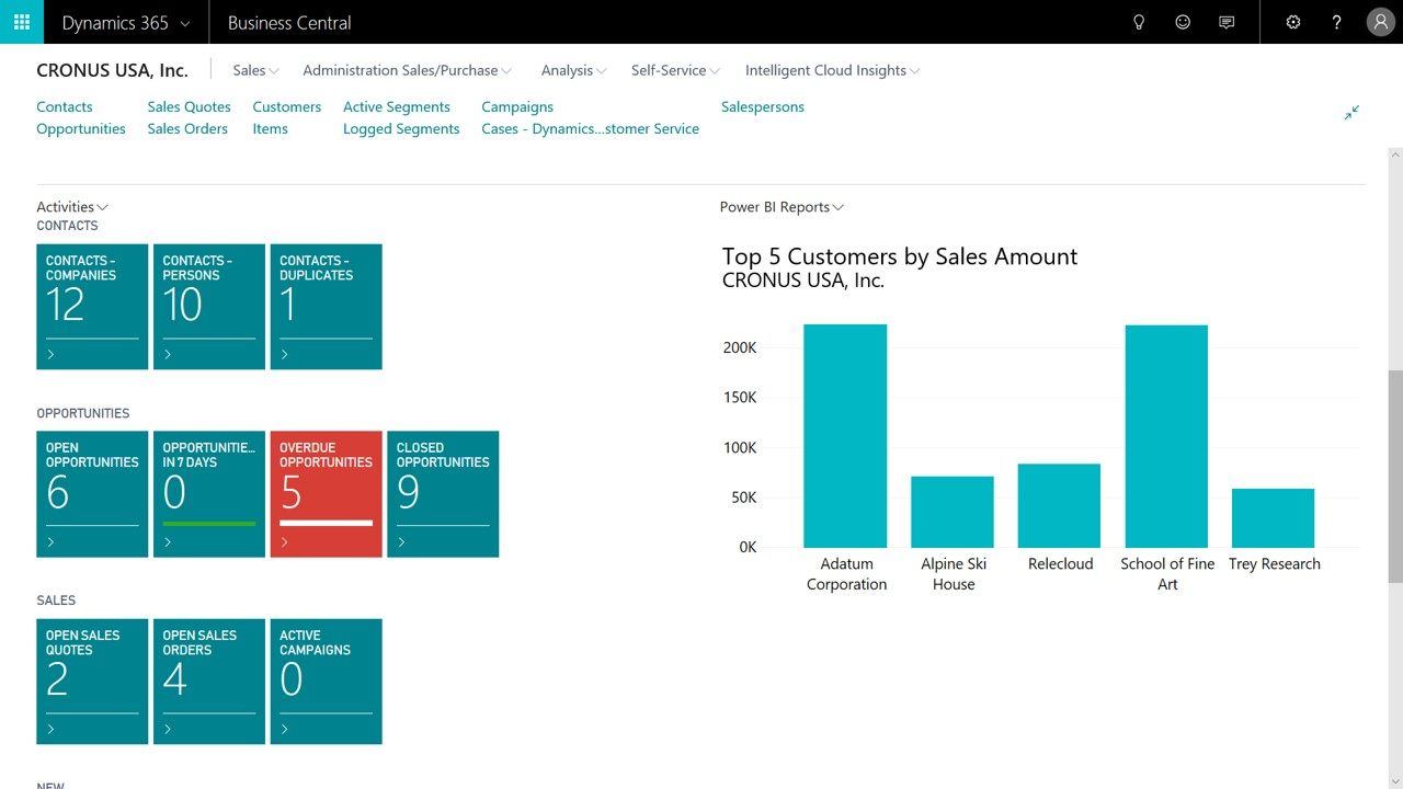 Microsft Dynamics Business Central CRM