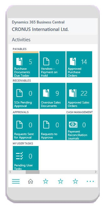 Microsft Dynamics Business Central Phone Client 2