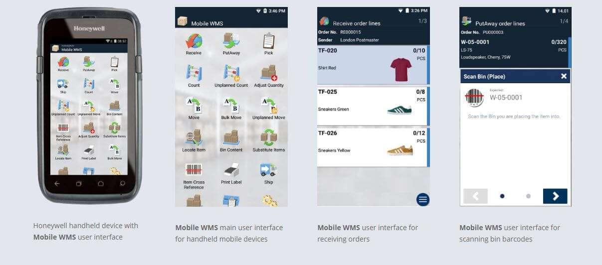 Screenshots of Mobile CMS